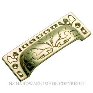 TRADCO 3555 DRAWER PULL 85 X 32MM POLISHED BRASS