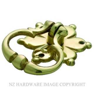 TRADCO 3604 RING PULL FLOWER SB POLISHED BRASS