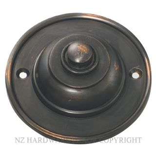 TRADCO 5510 BELL PUSH 75MM ANTIQUE COPPER