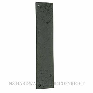 WINDSOR WB2024 BLACK IRON - PUSH PLATE 300 X 65MM BLACK