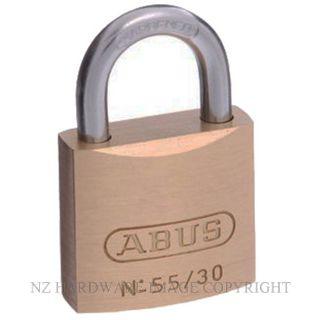 ABUS AB55 30C 30MM SINGLE PADLOCK