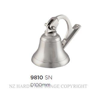 TRADCO 9810 SHIPS BELL SATIN NICKEL 100MM