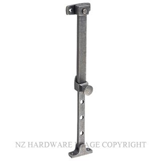 TRADCO 6401 TELESCOPIC STAY RUMBLED NICKEL 200-295MM