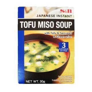 INSTANT TOFU MISO SOUP S&B 30G