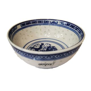 BOWL BLUE RICE 7.5 IN