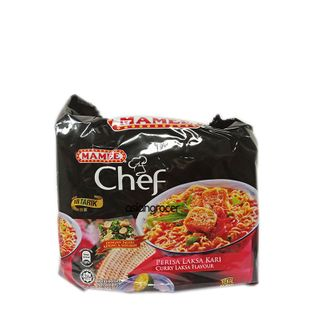 INST NOODLE MAMEE CHEF CURRY LAKSA 4/80G