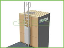 Climb2 Modular Fixed Access Ladder Kit with Cage and Lockable Access Door
