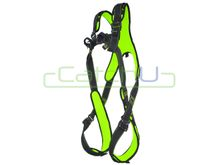 CatchU Premium Padded Full Body Harness with Front and Rear Fall Arrest Attachment Points and Quick Release Buckles