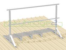 Skybridge2 Aluminium Walkway Kit [35-45 degrees] - 600mm x 6,000mm - Handrail on 1 Side