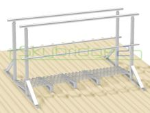 Skybridge2 Aluminium Walkway Kit [25-34 degrees] - 600mm x 6,000mm - Handrail on 2 Sides