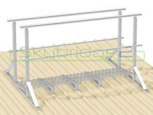 Skybridge2 Aluminium Walkway Kit [15-24 degrees] - 600mm x 6,000mm - Handrail on 2 Sides