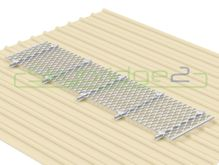 Skybridge2 Aluminium Walkway Kit [0-5 degrees] - 600mm x 6,000mm - No Handrail