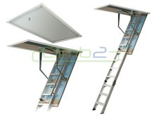 Climb2 Fold Down/Attic Ladder - Premium - 2.400m - 2.635m