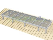 Access2 Engineered Modular Aluminium Platform Kit [11-15 degrees] - 1.2m x 4.2m