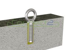 Connect2 Concrete Fix Anchor (with Removable Eyebolt and a Stainless Cap)