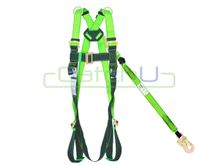 CatchU Full Body Harness with Front and Rear Fall Arrest Attachment Points with Permanantly Attached HK1521.03 2.0m Lanyard