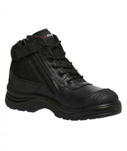KING GEE K27150 L/UP BLK SAFETY BOOT