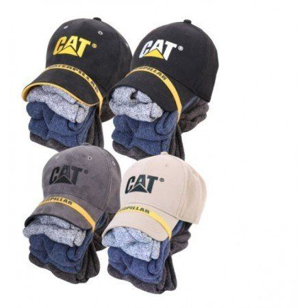 CAT 5 PAIR WORK SOCKS AND CAP COMBO