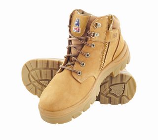 BOOT SAFETY PARKES WHEAT LACE/ZIP SIZE 10