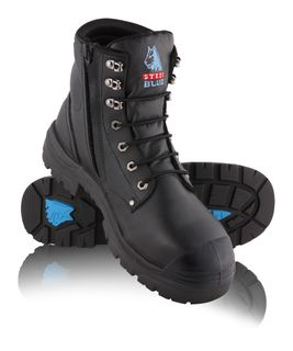 BOOT SAFETY ARGYLE ZIP TPU BUMP BLACK SIZE 10