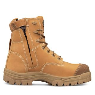 BOOT SAFETY OLIVER 150MM LACE UP BUMP ZIP WHEAT 150MM COMPOSITE SIZE 10