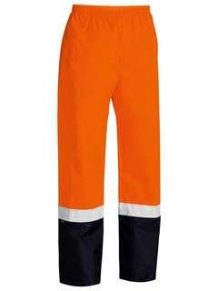 BISLEY HI-VIS ORANGE RAIN TROUSERS