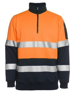 JB'S 6HZFS HI-VIZ FLEECE TAPED ORG/NVY
