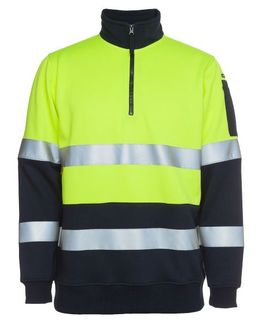 JB'S 6HZFS HI-VIZ FLEECE TAPED YELL/NVY