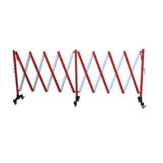 BARRIER EXPANDING RED/WHITE 5M ON CASTORS