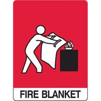 SIGN FIRE BLANKET