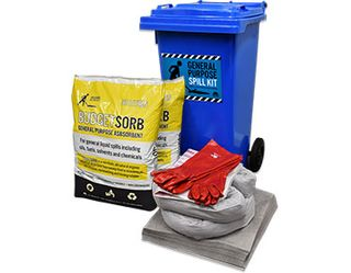 SPILL KIT GENERAL PURPOSE 120L WHEELIE BIN GLOBAL SPILL