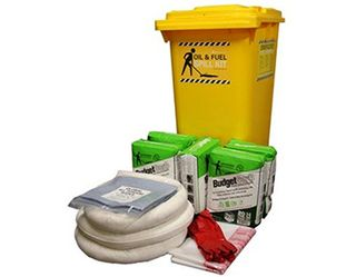 SPILL CONTROL OIL AND FUEL 240L WHEELIE BIN GLOBAL SPILL