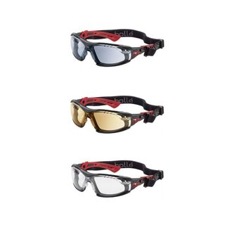 SAFETY GLASSES BOLLE RUSH POSITIVE SEAL SMOKE LENS