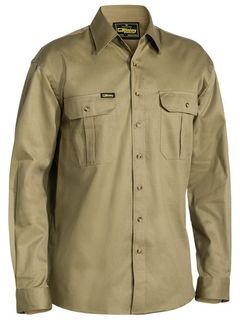 BISLEY BS6433 KHAKI LONG SLEEVE SHIRT