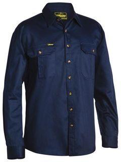 BISLEY BS6433 NAVY LONG SLEEVE SHIRT
