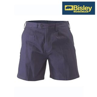 BISLEY COTTON DRILL SHORTS NAVY