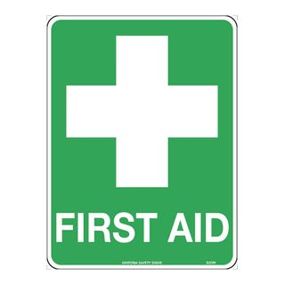 SIGN FIRST AID 300X225 POLY