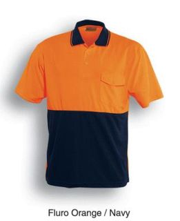 BOCINI SP0427 SHORT SLEEVE POLO ORG/NVY