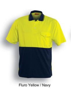 BOCINI SP0427 SHORT SLEEVE POLO YELL/NAVY