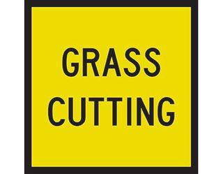 SIGN GRASS CUTTING CL1 REF. 600 X 600 CORFLUTE