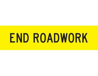 SIGN END ROADWORK CL1 REF.1200 X 300 CORFLUTE
