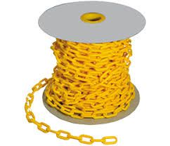 CHAIN PVC YELLOW 6mm X 40M