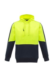SYZMIK YELLOW/NAVY PULLOVER HOODIE