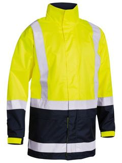 BISLEY HI-VIS YELLOW RAIN JACKET