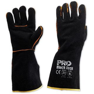WELDING GLOVES BLACK JACK Black & Gold. Length 40cm
