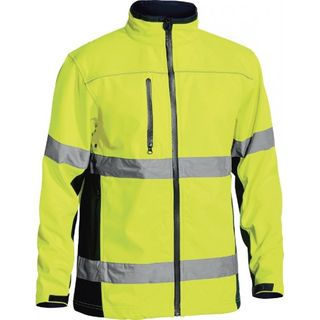 BISLEY SOFT SHELL JACKET YELL/NVY