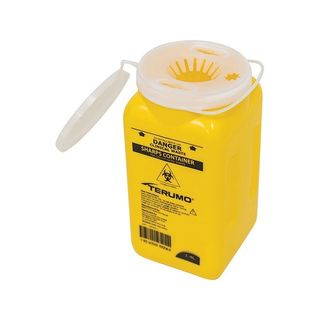 SHARPS CONTAINER PLASTIC 1.4L YELLOW