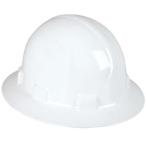 SAFETY HAT FULL BRIM ABS WHITE