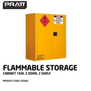 PRATT FLAMMABLE CABINET 160LTR 2 DOOR, 2 SHELF