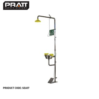 PRATT COMBINATION SHOWER WITH  TRIPLE NOZZLE EYE & FACE WASH WITH BOWL & FOOT TREADLE